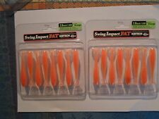 2 BOITES DE 8 LEURRES SOUPLE KEITECH SWING IMPACT FAT - 7CM - PAR 8 orange