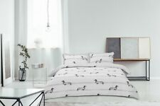 Sausage Dogs Animal Printed Reversible Duvet Quilt Cover Double King Bedding Set