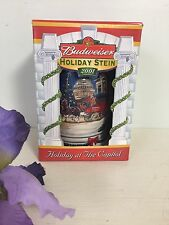 Budweiser 2001 Holiday at the Capitol WHITE HOUSE Beer Stein NIB