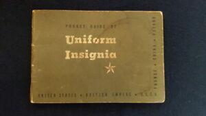 """U.S. 1943 printed """"Pocket guide of Uniform Insignia"""""""