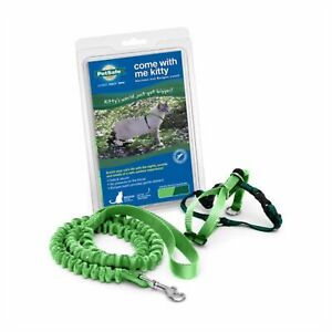 PetSafe COME WITH ME KITTY Cat Harness and Bungee Leash Green Small