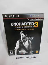 UNCHARTED 3 DRAKE'S DECEPTION COLLECTOR'S EDITION - SONY PS3 - NUOVO NEW