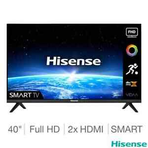 Hisense Smart TV, 40 Inch Full HD, with HDR and HLG, F Rated, 40A4GTUK