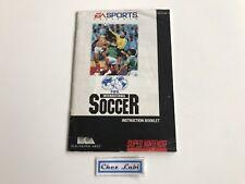 Notice - Fifa International Soccer - Super Nintendo SNES - NTSC USA