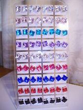 Joblot De 36 Pares Mixto Color Cuadrada 8 Mm Cristal Aretes-nuevo al por mayor