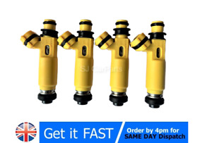 4x Fuel Injector Yellow Set  For Mazda MX5 RX8 For Denso 2004-2008 195500-4450