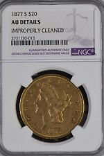 1877-S $20 Liberty Gold Double Eagle AU-DETAILS  NGC FREE SHIPPING!!!!!!!!!!!!!!