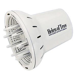 Helen of Troy Mini Euro Pro Hair Blow Dryer Finger Diffuser 1528 European White