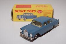 .- DINKY TOYS 186 MERCEDES BENZ MERCEDES-BENZ 220SE 220 SE BLUE EXCELLENT BOXED