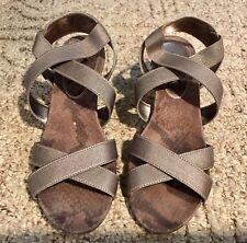 Anne Klein Crisscross Womens Size 7-1/5 Strappy  Grey