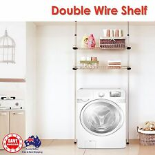 Portable 2 pole 2 Wire shelf Basket Storage Rack Space Saver MADE IN KOREA