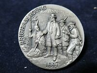 The 1847 Brigham Young Silver Medal, Mormonism, Gorgeous Deep Engraving 1.1+ Ozt