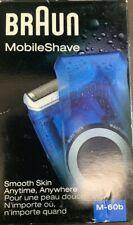 NEW - Braun Pocket Mobile Electric Foil Shaver for Men,Washable,Transparent Blue