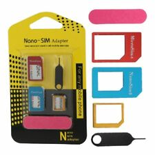 Universal Mobile Phone & Tablet Sim Card Adapters Nano Micro Card Reader Set 5 pieces