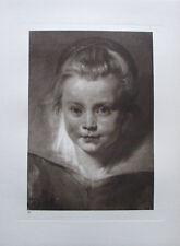 Bildnis eines Mädchens - Kupfertiefdruck Kunstdruck 1923 Rubens