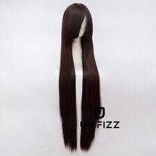 100cm Lady Anime for Noragami Iki Hiyori Dark Brown Long Straight Cosplay Wig