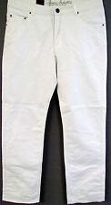 Nuevo Básico Regular Pantalones Vaqueros de Hombre Uni Blanco Withe 5 Bolsillos