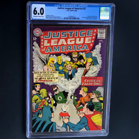 JUSTICE LEAGUE OF AMERICA #21 (DC 1963) 💥 CGC 6.0 OW-W 💥 RE-INTRO JSA! KEY!
