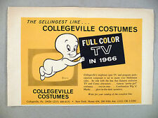 Collegeville Costumes PRINT AD - 1966 ~Halloween costumes, Casper Friendly Ghost