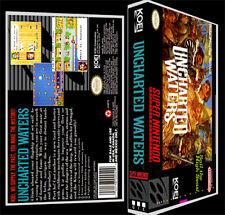 Uncharted Waters - SNES Reproduction Art Case/Box No Game.