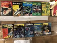 Vtg Fantasy and Science Fiction Pulp magazine cool lot of 10 Incredible monsters