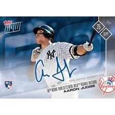 2017 TOPPS NOW #654A AARON JUDGE AUTO 34/49 50TH HR SETS MLB ROOKIE HR RECORD