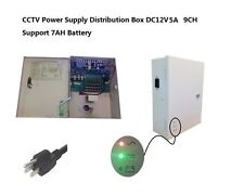 CCTV Camera UPS Box 12V DC 9CH 5Amps Power Battery Support Battery Protection