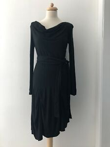 Vivienne Westwood Red Label Dress Black Size L Jersey Drapery Authentic
