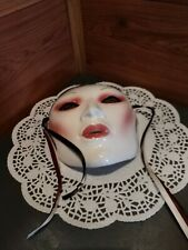 SIGNED ORIGINAL CLAY ART© WALL HANGING MASK WITH LABEL MADE IN SAN FRANCISCO