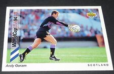 GORAM GLASGOW RANGERS SCOTLAND FOOTBALL CARD UPPER DECK USA 94 PANINI 1994 WM94