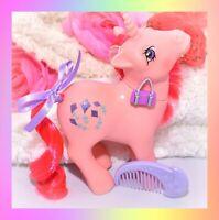 ❤️My Little Pony MLP G1 Vtg Skyflier Pink Unicorn Glitter Kites MOON COMB❤️