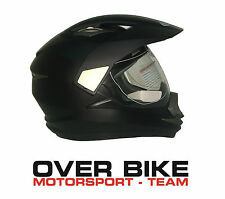 CASCO OFF ROAD CROSS MOTARD ENDURO QUAD GSB XP14A NERO OPACO CON VISIERA TG M