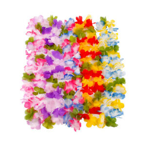 10x Hawaiian Flower Garland Leis Necklace Fancy Dress Party Costumes Accessories