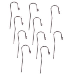 10x Dental Stainless Steel Lip Hook Apex Locator Canal Finder Dental Tool Urs