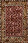 Antique Pre-1900 Vegetable Dye Malayer Area Rug Geometric Oriental Handmade 3x4