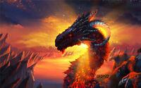 9X6FT Fire Dragon Vinyl Studio Backdrop Photography Props Photo Background DB892