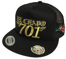 EL CHAPO GUZMAN 701 MEXICO LOGO FEDERAL 3 LOGOS 3 COLOR EAGLE HAT BLACK MESH
