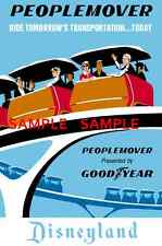 "Vintage Disneyland People Mover Tomorrowla​nd  1967 [ 8.5"" x 11"" ]  Poster"
