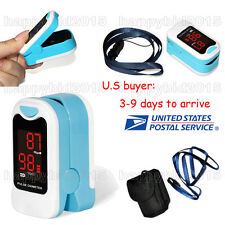 Blue # Finger Pulse Oximeter SpO2 Blood Oxygen PR Heart Rate LED Oxymeter