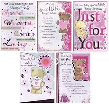 LARGE BIRTHDAY WISHES TO MY WONDERFUL WIFE BIRTHDAY CARD 1ST P&P GREETING CARD