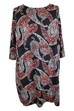 Lockre Sitzende Damenblusen,-Tops & -Shirts im Tuniken-Stil mit Viskose und Paisley