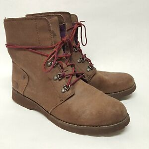 The North Face Women's Brown Ballard Lace Hiking Boots Combat Insulation US 8