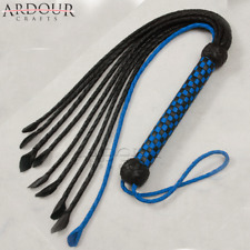 Genuine & Real Bull Hide Leather Braided Cat O Nine Tails Flogger