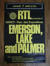 AFFICHE POSTER Original Concert EMERSON LAKE AND PALMER Nancy France 1973 Rare