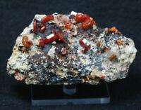Vanadinite Crystals, Mibladen, Atlas Mountains, Morocco