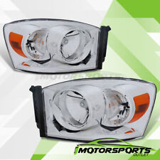 Factory Style Chrome Headlights Set For 2006 2007 2008 Dodge Ram 1500/2500/3500
