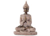 Sandstone Meditation Buddha Altar Shrine Statue Figure Buddhism Buddhist Art SM