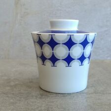 Vintage Mitterteich Bavaria Sugar Bowl with Lid Geometric Design Blue Grey White
