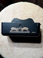 Vtg Authentic Lohman Deer Rattle Box