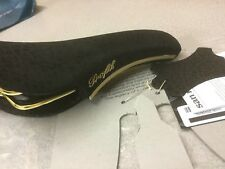 NEW Italy San Marco Concor Profil Black Rino Leather Bikes Saddle